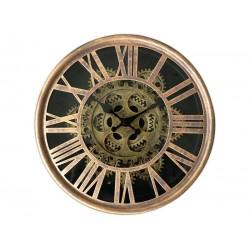 Horloge Murale Mécanisme Apparent Doré Diamètre 25 Cm