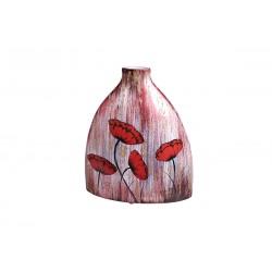 Vase Coquelicots Rouge 37,5 Cm