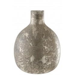 Vase Design En Verre Teinté Gris/Grege 44 Cm