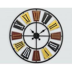 Horloge Murale Colorée Ajourée Diamètre 70 Cm
