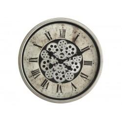 Horloge Murale Mécanisme Apparent Grise Diamètre 46 Cm