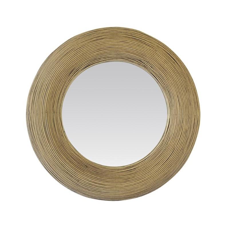 Miroir Milo Rotin Naturel Diamètre 60 Cm