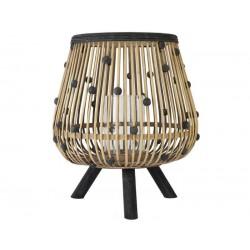 Lanterne Bambou Avec Boules Noir & Naturel
