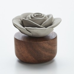Gardenia Du Laos - Diffuseur De Parfum En Bois Et Céramique Grise