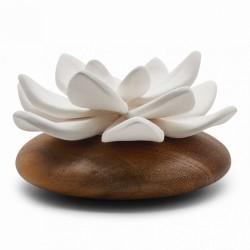 Jade Du Tibet - Diffuseur De Parfum En Bois Et Céramique Blanche