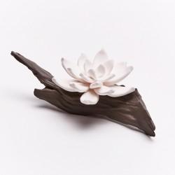 Flores - Diffuseur De Parfum En Céramique Blanche Sur Branche