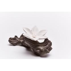 Sumba - Diffuseur De Parfum En Céramique Blanche Sur Branche