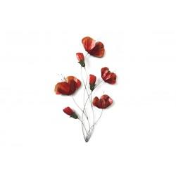Déco Murale Coquelicots Rouges 68,5X39 Cm