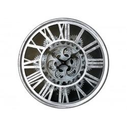 Horloge Murale Mécanisme Apparent Argenté Diamètre 25 Cm