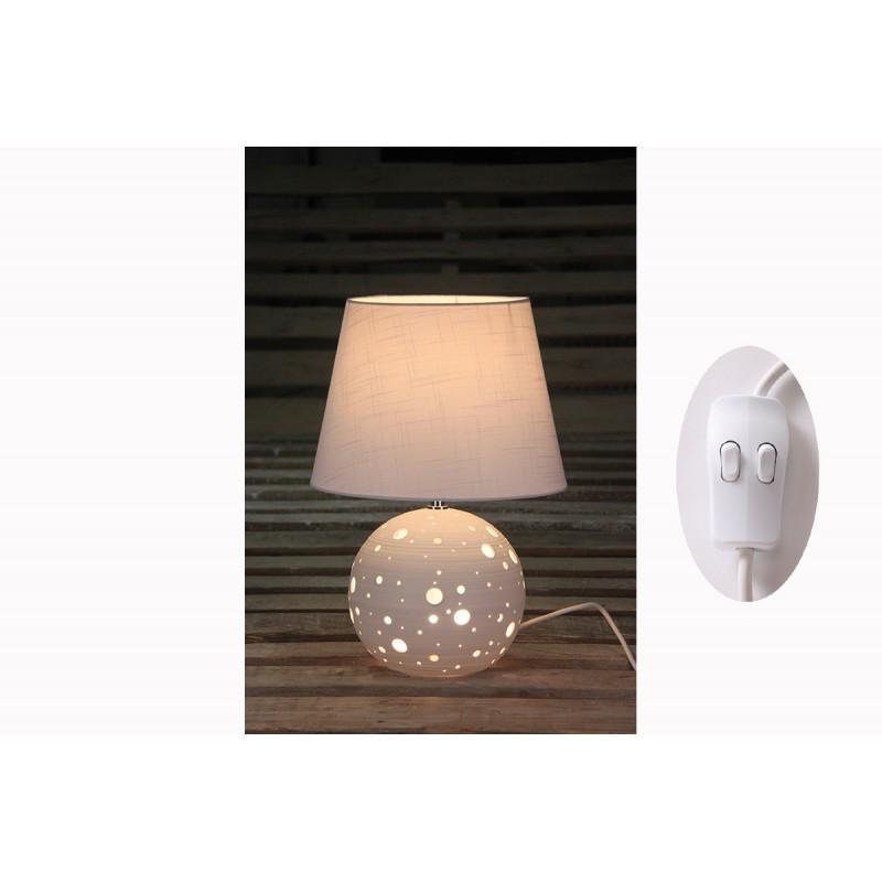 Lampe Porcelaine Boule Double Ampoule