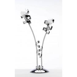 Lampe Double Ruban Chromée