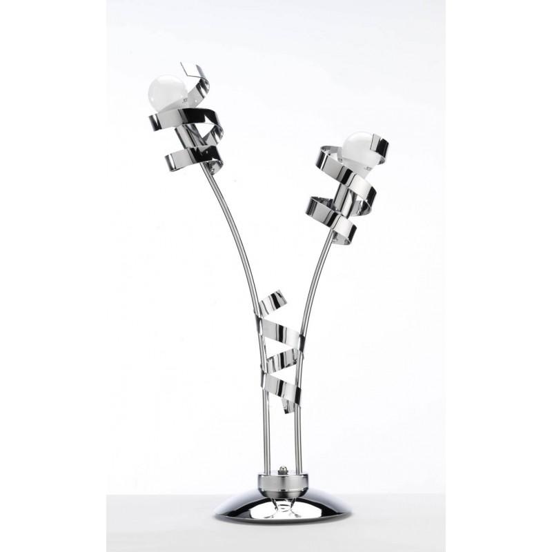 Lampe Double Ruban En Métal Chromé