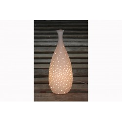 Lampe Porcelaine Forme Vase/Bouteille