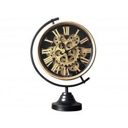 Horloge Sur Pied Mécanisme Apparent Doré & noir 28Cmx13Cmx39Cm