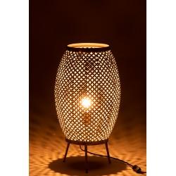 Lampe Ajourée Motif Fleur En Métal Or